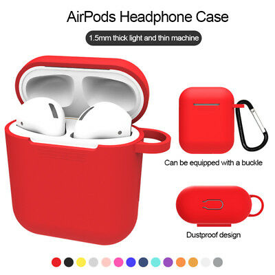 AirPods Case Protective Silicone Skin Holder Bag for Apple Air Pod Accessories A