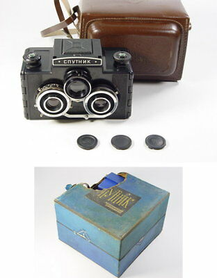 Stereoscope are included ! USSR Stereo camera 6x6 format Sputnik. s/n 027886.