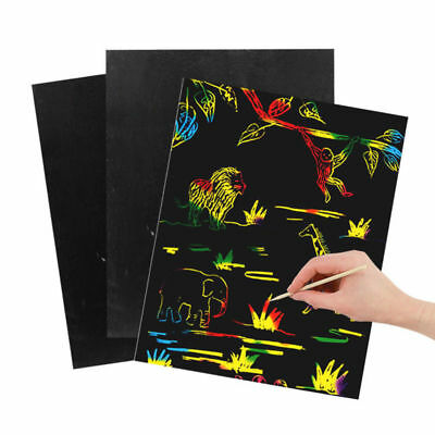 10x Magic Scratch Art Painting Book Paper Colorful Educational Playing Toy Kids
