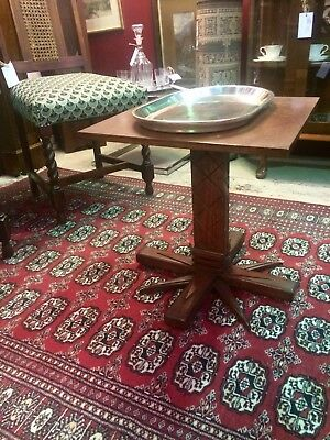 Art Deco Style Handcrafted Palm Table - Solid Wood - Great Condition
