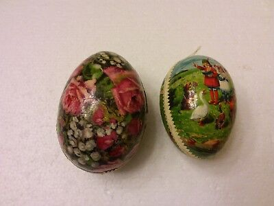 2 Vintage Paper Mache Eggs, Made In Germany