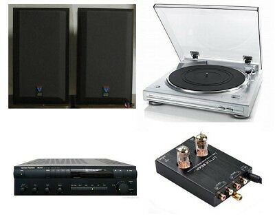 Component Stereo System for Vinyl Lovers with Harman Kardon, B&W and Denon
