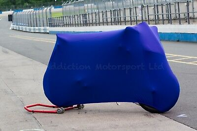 Ducati 848, 1098, 1198 S R Super Soft Stretch Indoor Bike Cover Breathable Blue