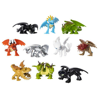 How To Train Your Dragon 3 Light Fury Toothless Action Figure Toy Mini Figurine