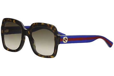 fb154fbce23 GUCCI WOMEN S GG0036S GG 0036 S 004 Havana Blue Red Sunglasses 54mm ...