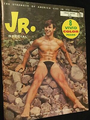 JR. Vintage Magazine Gay Physique Rare Special 1968 Boys Guide Physical Fitness