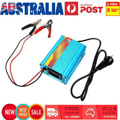 AU 12V 10A LCD Car Battery Charger Inverter Power Supply Boat Caravan ATV
