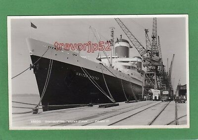 SS United States Lines Southampton Dock RP pc Judges 28032 Ref M38
