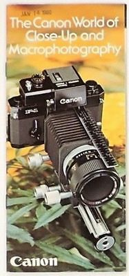 1978 CANON 35mm SLR CAMERA CLOSE-UP & MACRO PHOTOGRAPHY EQUIPMENT BROCHURE