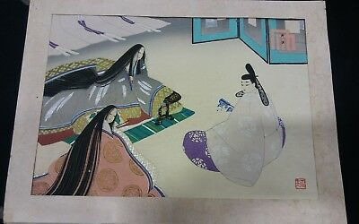 Original Vintage Japanese Print SIgned