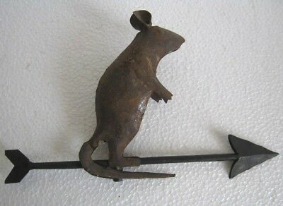 Vintage Iron Mouse Weather Vane