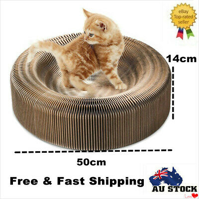 50cm Cat Scratcher Pet Claw Scratching Board Bed Sofa Toy Collapsible Cardboard