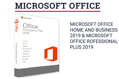 Microsoft Office 2019- HOME AND BUSINESS 1 MAC/oder PROFESSIONAL PLUS 1 PC