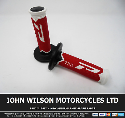 Honda CR 125 R 1993 Red Progrip Handle Bar Motocross MX Grips