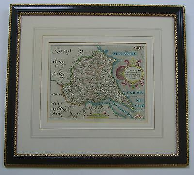 Yorkshire East Riding: antique map by Saxton & Hole, 1610 or 1637