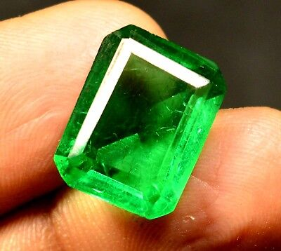 8.60 Ct Natural VVS Transparent Columbian Emerald gemstone CERTIFIED