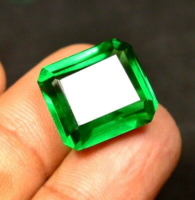 13.90 Ct Natural VVS Transparent Columbian Emerald gemstone CERTIFIED