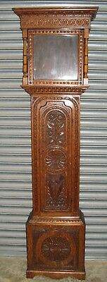 A Good Early Carved Oak Case  - to suit 12 inch Dial - Delivery Possible.