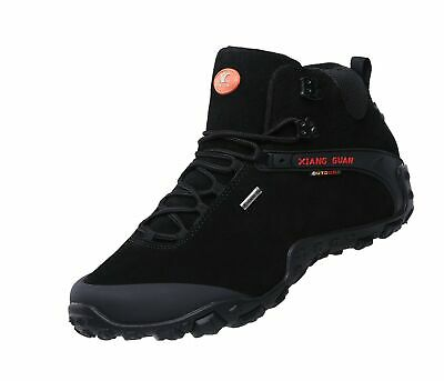 de86851e57b XIANG GUAN MEN'S Outdoor High-Top Lacing Up Water Resistant Trekking Hiking  B...