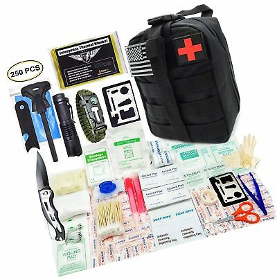 EVERLIT 250 Pieces Survival First Aid Kit IFAK Molle System... - FREE 2 Day Ship