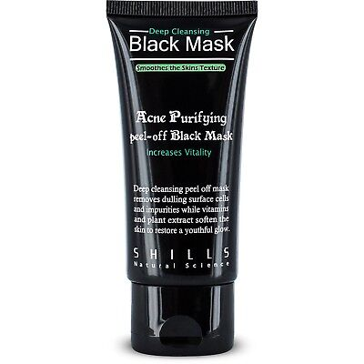 Shills GENUINE Deep Cleansing Blackhead Remover Peel-Off Black Face Mask 50ml