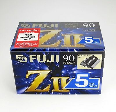 5 x Fuji ZII 90 (1995-1997) - Type II Chrome - Sealed - NOS/OVP - Made in Japan