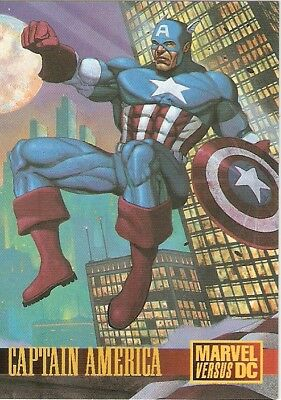 1995 Skybox Marvel Vs DC Promo Card – Captain America