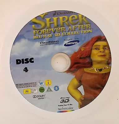 Shrek Forever After 3D and 2D Blu Ray Disc 4 Only in paper sleeve New!