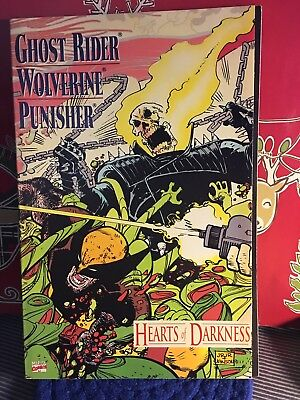 """Marvel Ghost Rider, Wolverine & Puisher """"Hearts of Darkness"""" Comic Book!"""