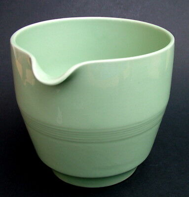 Vintage Wood Woods & Sons Green Beryl Large 400ml Milk Jug 9.5cmh - Looks in VGC