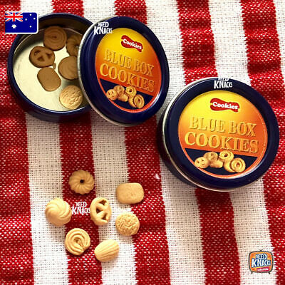 Mini Collectables - Blue Tin Cookies!! | add to your Coles Little Shop Minis Set