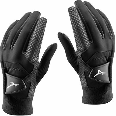Pair Of 2019 Mizuno Thermagrip Mens Thermal Playing Golf Gloves