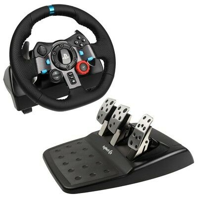 Logitech G29 Racing Wheel With Pedals + Shifter PS4/PS3/PC For Sim Racing