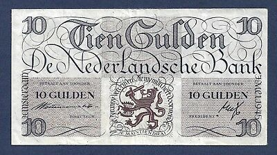 [AN] Netherlands 10 Gulden 1945 P74 VF+