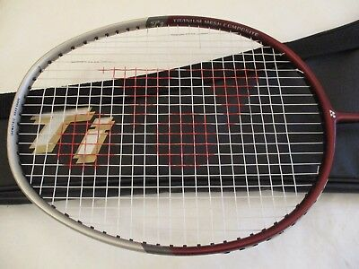 Yonex Badminton Racket with Titanium Mesh plus carrying case, new unused