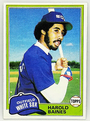 Hot! Harold Baines Rookie Card! 1981 Topps #347 Set Break Rc Chicago White Sox!