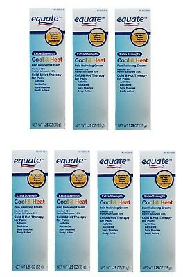 NEW Equate Extra Strength Cool & Heat Pain Relieving Cream 1.25 oz Exp: 03/2020