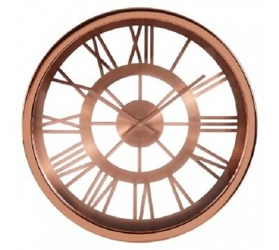 Wall Clock Round Baillie Skeleton Battery Quarts Time Home Office Modern