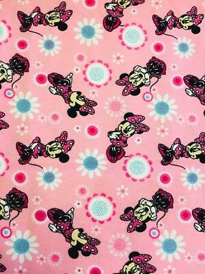 Nutex Patchwork Wincyette Fabric - Disney Minnie Mouse  - 39280