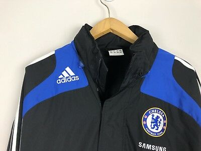 Chelsea FC Samsung Adidas Spellout Men s Full Zip Warm-Up Jacket LG 56881196d