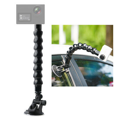 Suction Cup Car Mount Camera Holder Stand Adjustable Flexible Neck Arm Tube Q7Y9