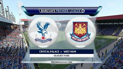 Crystal Palace vs. West Ham United.. London Derby