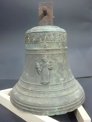 RARE ANTIQUE LARGE CHURCH BRONZE BELL SIGNED 18th CENTURY ITALIAN