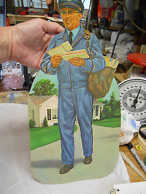 Vintage Dennison Mail Man Paper Die Cut Decoration 1960s USA