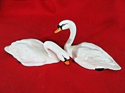Vintage Beswick Swan Family Made in England White #28 Stamped on Bottom
