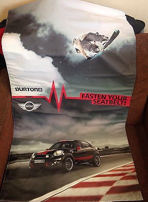 Mini Cooper Burton US Open Vinyl Promo Advertising Banner - Car Snowboard