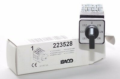 Voltmeter-Umschalter Cam Switch from Baco Type 223528 with 0-Stellung
