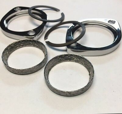 Harley Davidson Exhaust Flange Kit. Tapered Gaskets Flanges Snap Rings 84 to 14