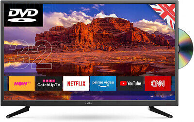 Cello Superfast Smart LED TV with Built-In DVD Player [Energy Class A]