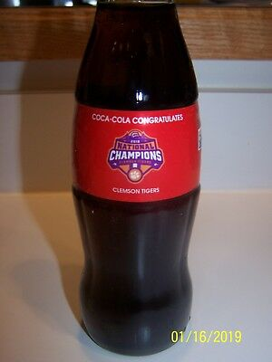 Clemson Tigers 2018 National Champions Coca Cola  Bottle - New